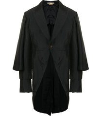 comme des garçons homme plus single-breasted shawl coat - black