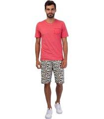 camiseta masculina com bolso rosa - rosa - masculino - dafiti