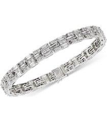 cubic zirconia bracelet in sterling silver