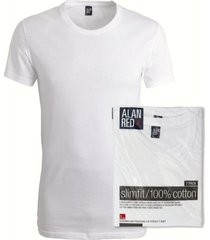 alan red 2-pack t-shirts james, extra wijde crew neck, wit