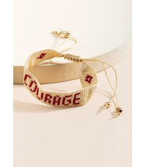 women's courage weaved pull bracelet in red by francesca's - size: one size