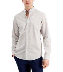 alfani men's melange woven shirt, created for macy's