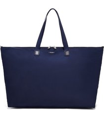 tumi voyageur just in case packable nylon tote - blue
