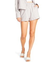 women's bb dakota wouldn't it be nice stretch linen & cotton shorts, size large - beige