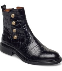 boots 4753 shoes boots ankle boots ankle boot - flat svart billi bi