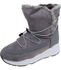 botín piel gris via franca
