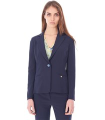 cady jacket with jewel button
