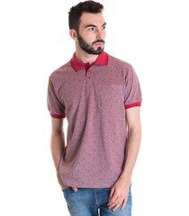 camisa polo masculina manga curta 33604 vermelho