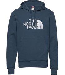 m lt drew peak po hd hoodie trui blauw the north face
