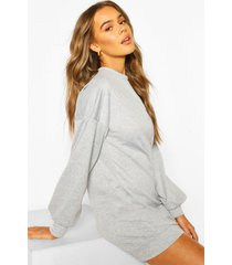 soft oversized lounge dress, grey marl