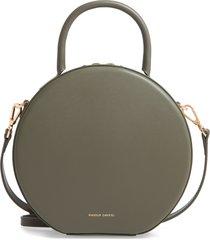 mansur gavriel calfskin leather circle crossbody bag - green