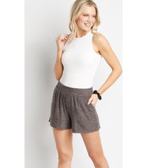 maurices womens lakeside gray cozy super soft 3.5in shorts