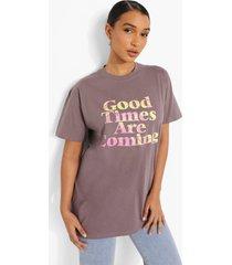 oversized t-shirt met opdruk, charcoal