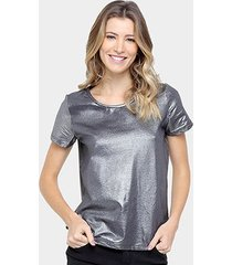 camiseta colcci metalizada feminina