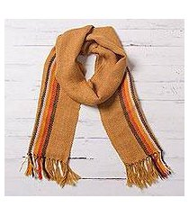 100% alpaca scarf, 'harvest warmth' (peru)