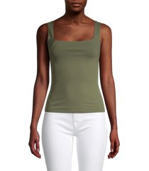 free people women's square off camisole - dark army green - size m