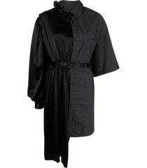 balenciaga contrast-panel shirt dress