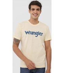 camiseta wrangler logo amarela