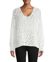 scoopneck cotton-blend sweater