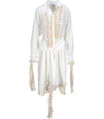 loewe loewe tassel embellished shirt dress