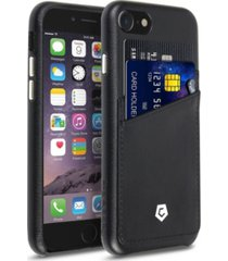 cobble pro premium leather case with id credit card slot for apple iphone 8, 7