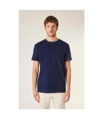camiseta indigo lavado reserva masculina
