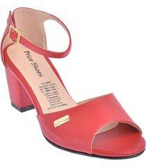 calzado dama ejecutivo tacon 5421004rojo
