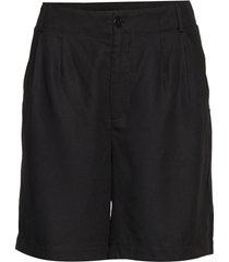 shorts w. pleats in tencel bermudashorts shorts zwart coster copenhagen