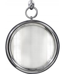 lustro wiszące portrait srebrne metalowe 30cm