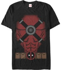 marvel men's deadpool suit costume short sleeve t-shirt