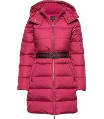 ax woman down jacket gevoerde lange jas roze armani exchange