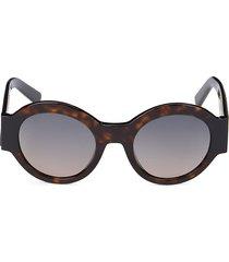 tod's women's 51mm round sunglasses - havana