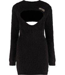 gcds long sleeve crew-neck sweater