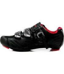 zapatillas ciclismo tiebao negro/rojo ruta