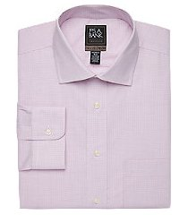 travel tech collection tailored fit spread collar grid shirt - big & tall, by jos. a. bank