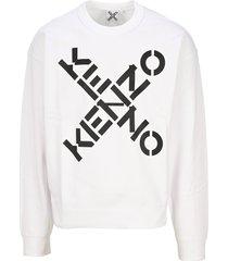 kenzo cross kenzo logo sweatshirt