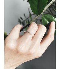 pierścionek minimalny-industrialny. cyrkonie