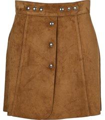 prada suede mini skirt
