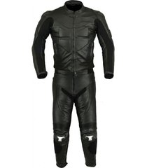 new men,s black color motorcycle leather suit leather jacket and pants