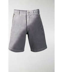 diesel red tag two-tone denim shorts