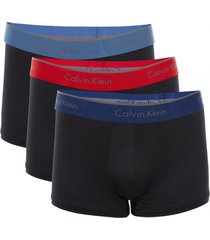 boxer micro stretch trunk 3pk negro calvin klein