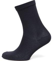 plain cotton socks lingerie socks regular socks blå mp denmark