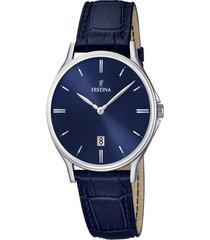 reloj festina modelo f16745/3 azul oscuro hombre