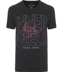 t-shirt masculina inner feels - preto