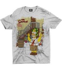 camiseta animes homer simpsons chaves - unissex