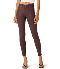 hudson jeans nico coated super-skinny ankle jeans