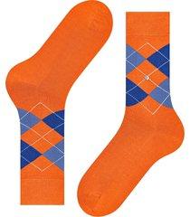 burlington socks manchester mercerised cotton socks | coral/blue | 20180-8153