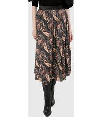 falda negro-multicolor paris district