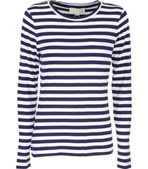 michael kors white and blue striped cotton sweater