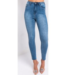 akira life like this rhinestone stripe skinny jeans